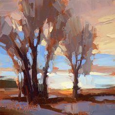 Bold brushstrokes make a dynamic landscape scene. ~ David Mensing Fine Art
