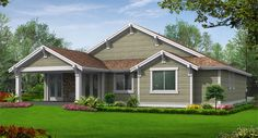 Oakley House Plan 3240 - 2 Bedrooms and 2 Baths | The House Designers