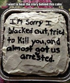 I want to hear the story behind this cake...