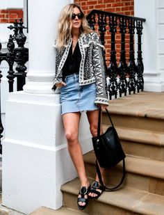 Adicione um casaqueto elegante.