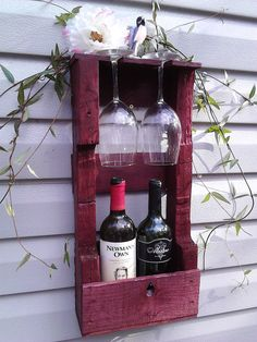 Little Wooden Wine Rack by NotTheJoneses with Pin-It-Button on Etsy