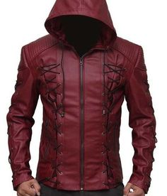 Arrow Stephen Colton Haynes Roy Harper Leather Jacket