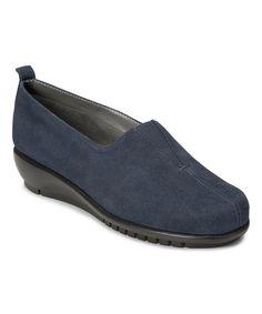 Look at this #zulilyfind! Dark Blue Friendship Suede Loafer #zulilyfinds