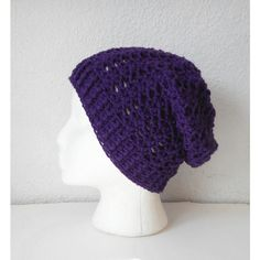 Slouchy Skullcap Beanie Hat in Aubergine Eggplant, ready to ship. (€40) ❤ liked on Polyvore featuring accessories, hats, beanie hats, print hats, slouchy hat, saggy beanie and slouchy beanie