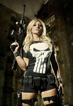 PunisHer-Classic, Only girl going for the Lynn Micheals look.