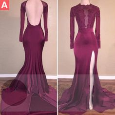 $179.99 Beading Long Sleeves Mermaid Stretch Satin Prom Dresses 2017products_id:(1000075245 or 1000075170 or 1000074533 or 1000073444)
