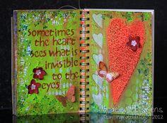 StampingMathilda: Art Journal - Hearts
