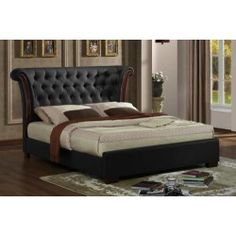 Chesterfield 4ft6 Double Faux Leather Bed Frame
