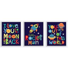 Found it at Wayfair - The Kids Room I Love You to the Moon and Back 3 pc Wall Plaque Set