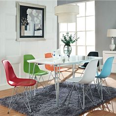The Pasadena Dining Chair works well in modern dining spaces, conference rooms, or as an office guest chair. Available in a variety of colors.