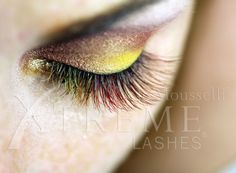 Black Cherry, Cranberry, Mango and Lemon eyelash extensions!
