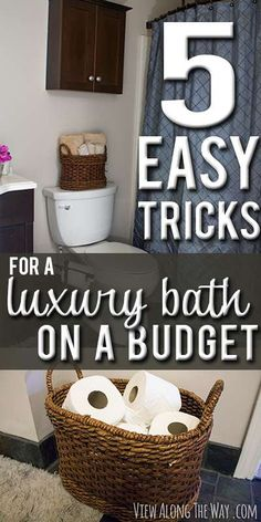 5 easy steps to a luxury guest bathroom on a budget  a