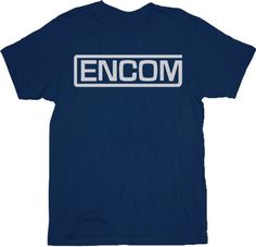 Tron Encom Logo Navy Adult T-shirt by TVStoreOnline - Teenormous.com