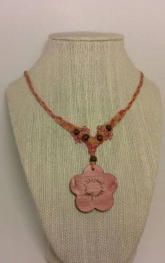 Check out this item in my Etsy shop https://www.etsy.com/listing/263744730/pink-flower-macrame-hemp-necklace