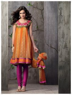 Salwar - Orange and pink