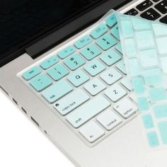 Macbook Ultra-Thin Keyboard Cover - Faded Ombre Tiffany Blue (US/CA keyboard) - Handy - Gaming Computer Laptop Keyboard Covers, Laptop Stickers, Apple Laptop Cases, Macbook Keyboard Decal, Computer Cover, Mac Laptop, Laptop Bags, Laptop Backpack, New Macbook Air