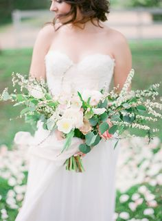 Spring Blossom Wedding Bouquet   Julie Paisley Photography   http://heyweddinglady.com/southern-spring-blossom-wedding-inspiration/