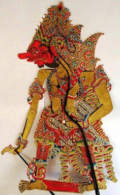 Ravana or Dasamuka from the Ramayana story. Made in Indonesia, original of the shadows theater puppet. Ramayana Story, Shadow Theatre, Hindu Culture, Family Drawing, Indonesian Art, Batik Art, Javanese, Bali Fashion, Shadow Play