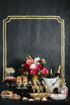From South Shore Decorating Blog.  Love the idea of painting a frame on the wall.