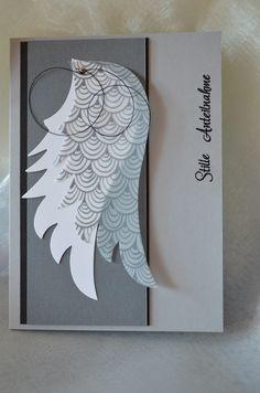Trauerkarte: Stanze Angel Wings von Sizzix, Papier von SU