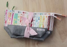 Selvage Zippy Pouches by twinfibers, via Flickr