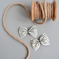 Amae + Pitchoun -Striped Chantal bow