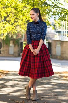 Tartan Me! | Women's Look | ASOS Fashion Finder -- lovely combination of the grunge and feminine trend ... I want a plaid midi skirt now! Behlor