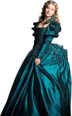 """""""La Belle et la Bete"""" (2014) ... sparkly fabric is not my favorite for historical interpretations."""