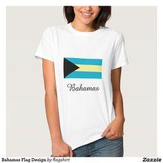 Bahamas Flag Design T-shirt