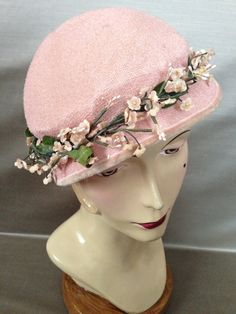 Pale Pink Vintage Hat