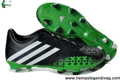 Buy 2013 adidas Predator LZ TRX FG Boots Black Green Soccer Shoes For Sale