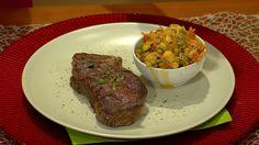 Moja mama - recepty - NY strip steak na šošovicovom ragú so slaninkou Ny Strip Steak, Beef, Food, Meat, Essen, Meals, Yemek, Eten, Steak