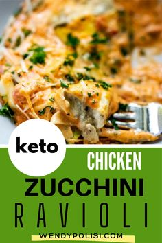 Keto Chicken Zucchini Ravioli is a healthy twist on a classic that you love! This low carb keto recipe with chicken is a gluten free option that you will turn to again and again.  #wendypolisi #zucchini #zucchiniravioli #lowcarb #keto #healthyrecipes #glutenfree Gluten Free Recipes For Breakfast, Healthy Gluten Free Recipes, Gluten Free Dinner, Keto Recipes, Dinner Recipes, Zucchini Ravioli, Chicken Zucchini, Keto Chicken, Chicken Recipes