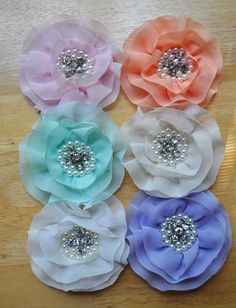 Shabby chic hair clips-deal of the month