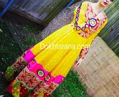 #yellow #afghan #dress