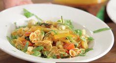 Saccottini Stuffed with Pesto & Served with Primavera Sauce~delish