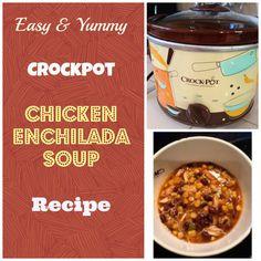 EASY Crockpot recipe for chicken enchilada soup