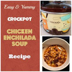 EASY Crockpot recipe for chicken enchilada soup