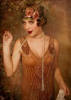 Flapper Girl Fashion from the Roaring Great Gatsby fashion for Halloween. Moda Vintage, Vintage Mode, Vintage Ladies, Retro Vintage, Vintage Style, Belle Epoque, Gatsby Style, Flapper Style, Flapper Fashion