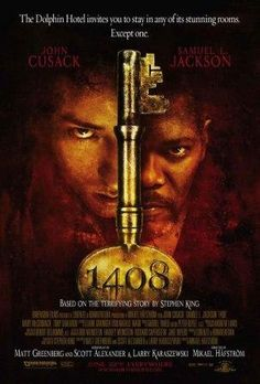 1408 Directed by Mikael Håfström First of all John Cusack and Samuel L. Jackson star in this, so there is the first reason why you should watch it. Its based on a Stephen King story and is a refreshing take on horror. Stephen Kings, Films Stephen King, Best Horror Movies, Horror Movie Posters, Scary Movies, Good Movies, Watch Movies, Amazing Movies, Movies Free