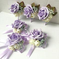 [AU$ 20.00] Gorgeous Foam Flower Sets (set of 2) - Wrist Corsage/Boutonniere (123106368)