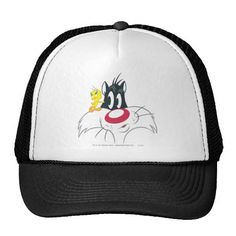 Tweety and Sylvester Cat In Action Pose 12. Producto disponible en tienda Zazzle. Accesorios, moda. Product available in Zazzle store. Fashion Accessories. Regalos, Gifts. #gorra #hat #Sylvester #cat #gato #kitten #LooneyTunes