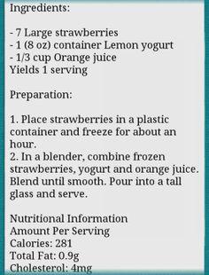 Strawberries orange smoothies