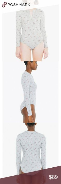 4c870ec247fad ✨NWOT✨American Apparel Floral Thermal Bodysuit This is a discontinued  product by AA. Super soft and looks cute af. Brand new without tags!!