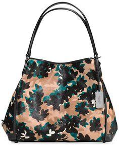 COACH Edie Shoulder Bag 31 in Printed Calf Hair - Handbags & Accessories - Macy's