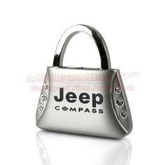 Jeep Compass Clear Crystals Purse Shape Key Chain | AG-KC9120-CMP | $11.95