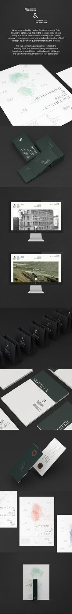 HiOA – Fashion & Production by Marius Sunde, via Behance #branding #identity