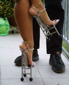 Yikes!      I would break my neck in these....jeeez!!!! Not humouress, just really damn odd!