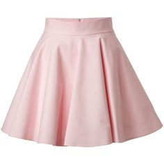 RED VALENTINO Stretch Cotton Circle Skirt ($435) ❤ liked on Polyvore featuring skirts, mini skirts, bottoms, saias, pink, flared skater skirt, flared skirt, pink circle skirt, pink a line skirt and circle skirt