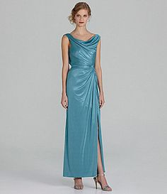Adrianna Papell Woman Draped Gown #Dillards